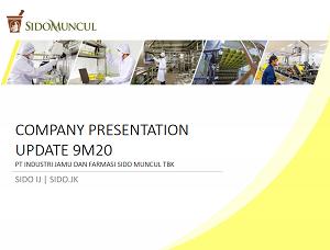 Company Update 9M20